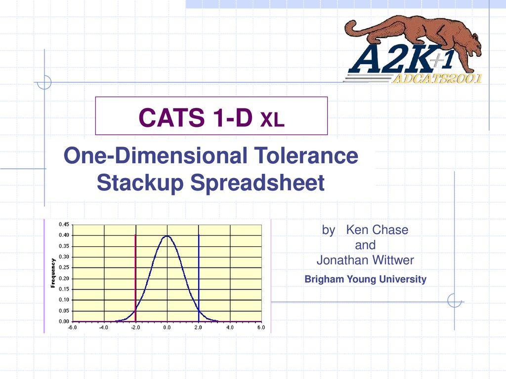 Tolerance Analysis Spreadsheet Regarding Onedimensional Tolerance Stackup Spreadsheet  Ppt Download
