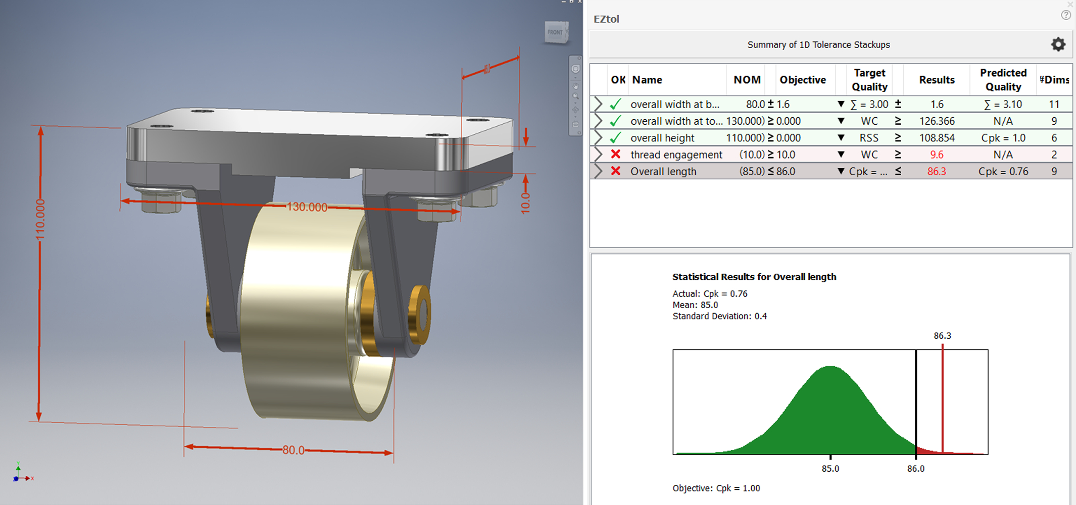 Tolerance Analysis Spreadsheet Regarding Sigmetrix Tolerance Analysis  Gdt Software Products