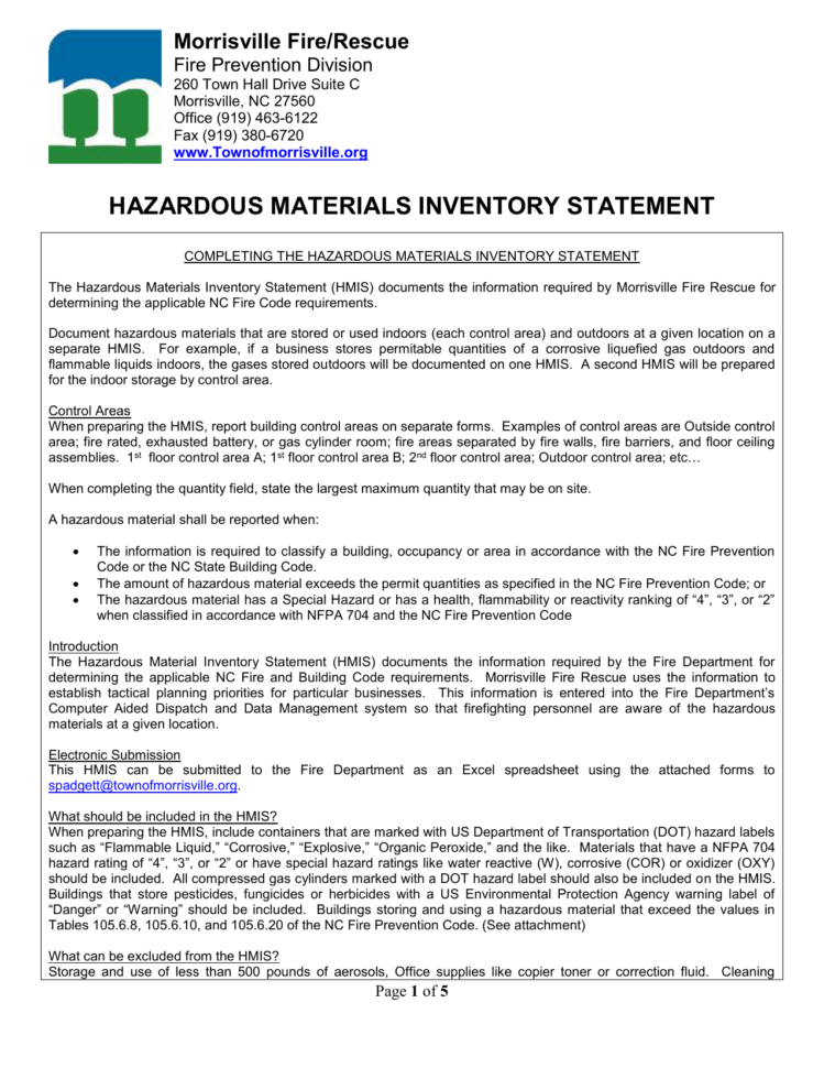 Toner Inventory Spreadsheet For Hazardous Materials Inventory Statement