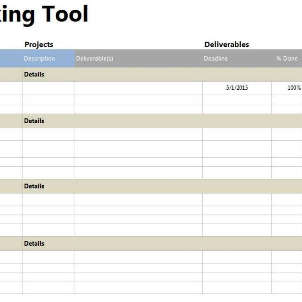 Tool Tracking Spreadsheet For Project Tracker Tool Throughout Project Tracking Excel Spreadsheet