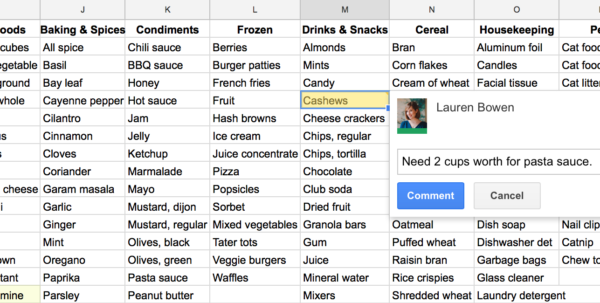 Track Grocery Spending Spreadsheet Regarding How I Use Google Sheets For Grocery Shopping And Meal Planning