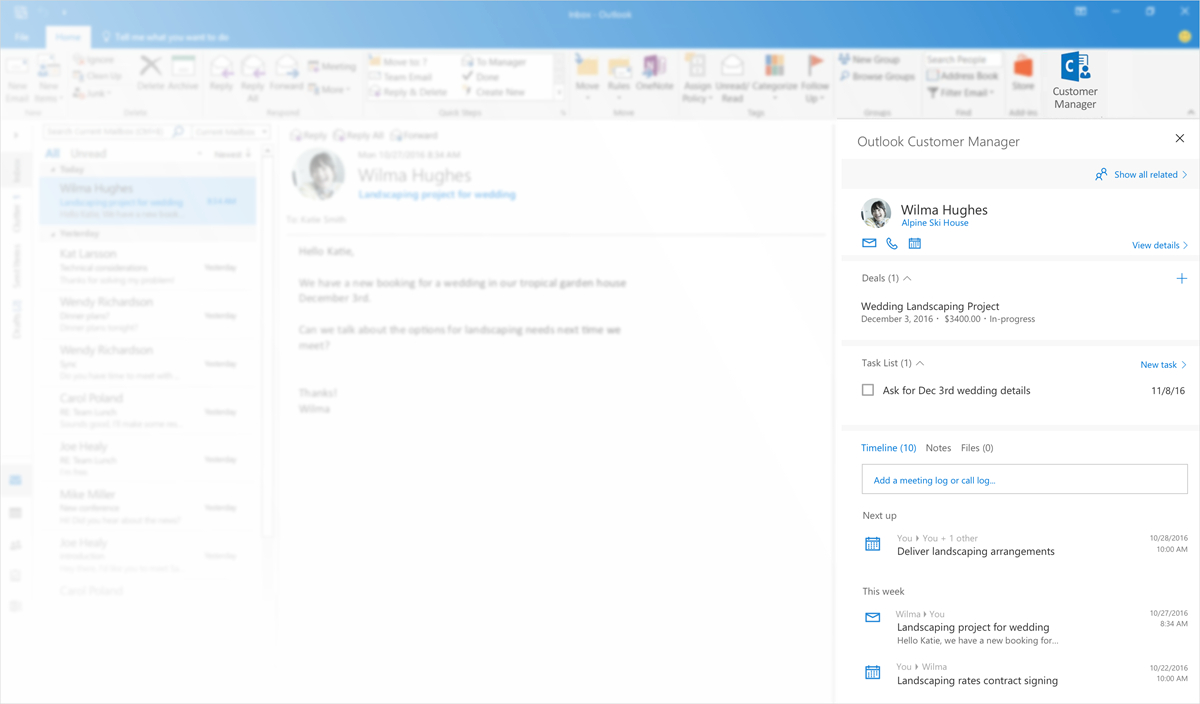 Track Outlook Com Emails In An Excel Spreadsheet Intended For Introducing Outlook Customer Manager—Relationships Made Easy For