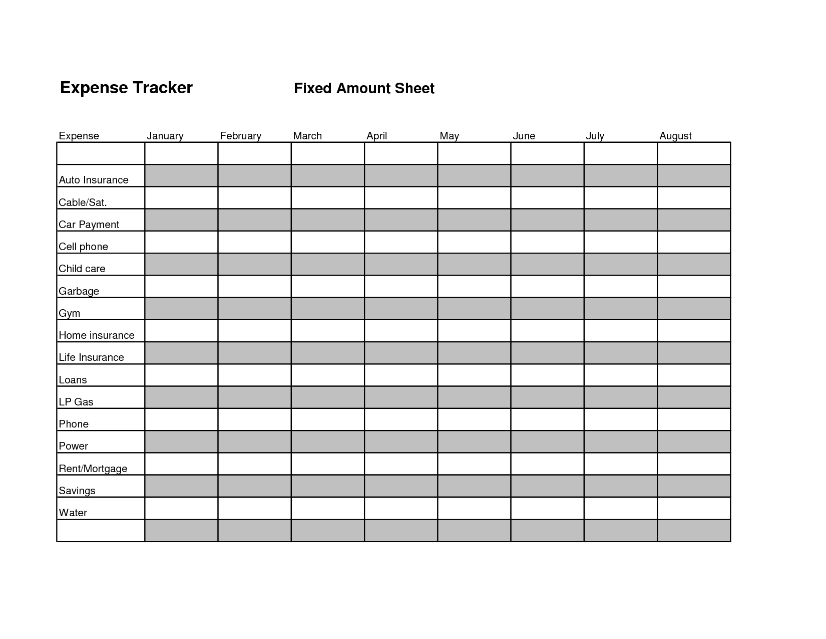 Track Your Expenses Spreadsheet In Effective Budget And Expense Organizer Template For Personal
