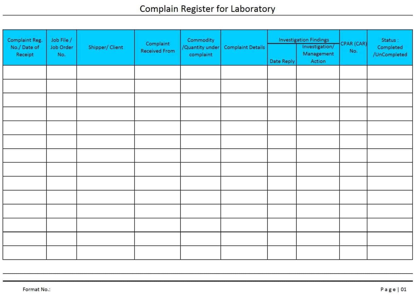 Tracking Complaints Excel Spreadsheet Intended For Track Customer Complaints Excel  Pulpedagogen Spreadsheet Template Docs