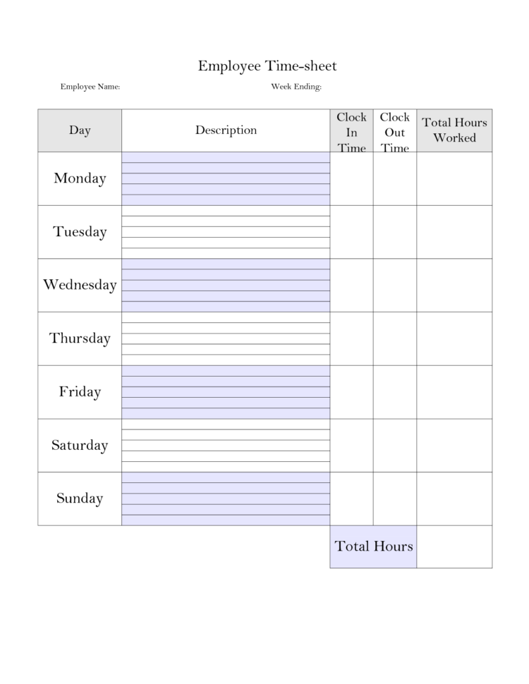 Tracking Hours Worked Spreadsheet In Time Tracking Spreadsheet And Printable Weekly Time Sheet Printable