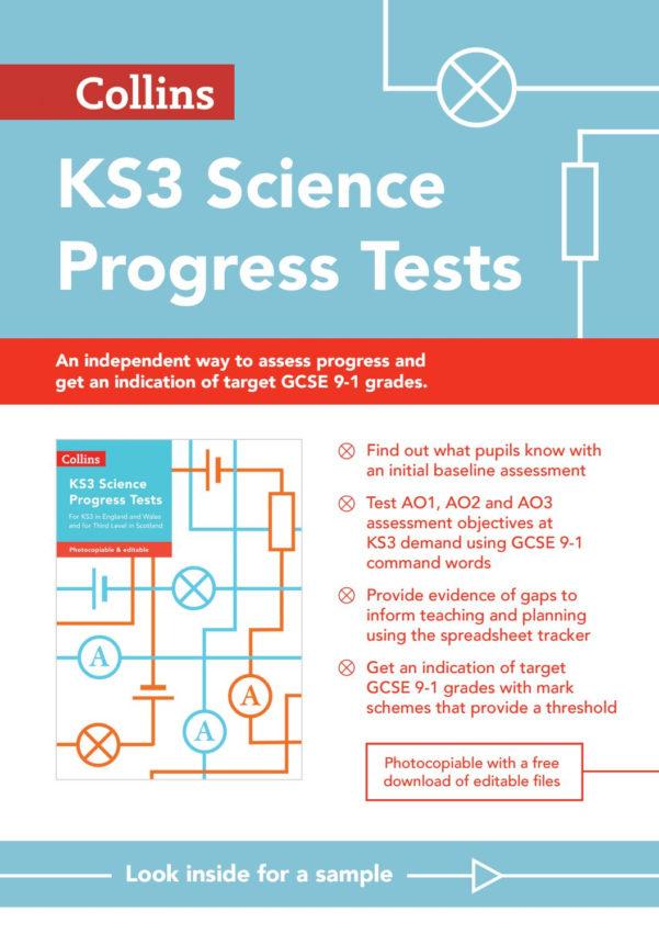 Tracking Pupil Progress Spreadsheet Inside Collins Tests  Assessment  Ks3 Science Progress Testscollins