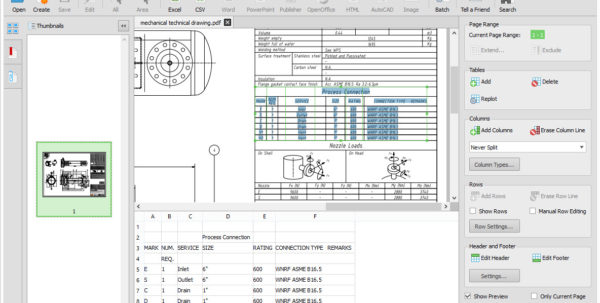 Transfer Pdf To Excel Spreadsheet Inside How To Export A Table From Pdf Autocad Drawing To Excel?