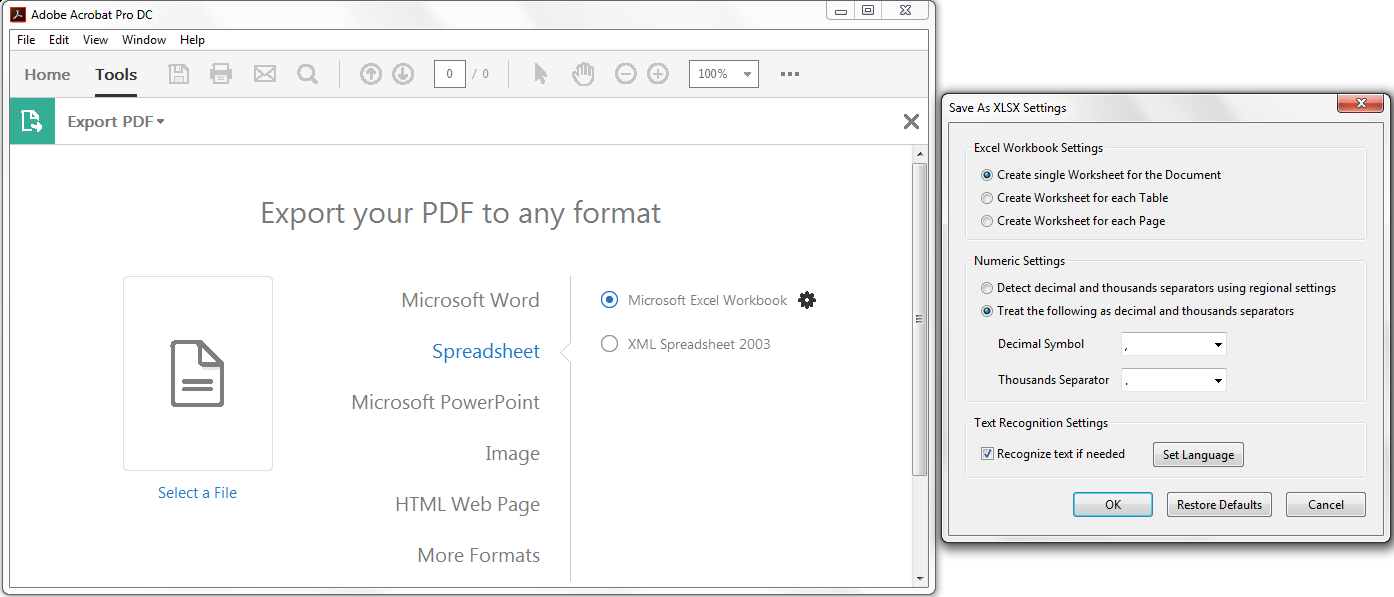 Transfer Pdf To Excel Spreadsheet Regarding Incorrect Conversion Of Decimal Thousand Separators From Pdf To Xls