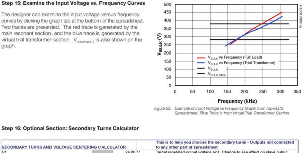 Transformer Design Spreadsheet For Application Note An55 Hiperlcs Family  Pdf