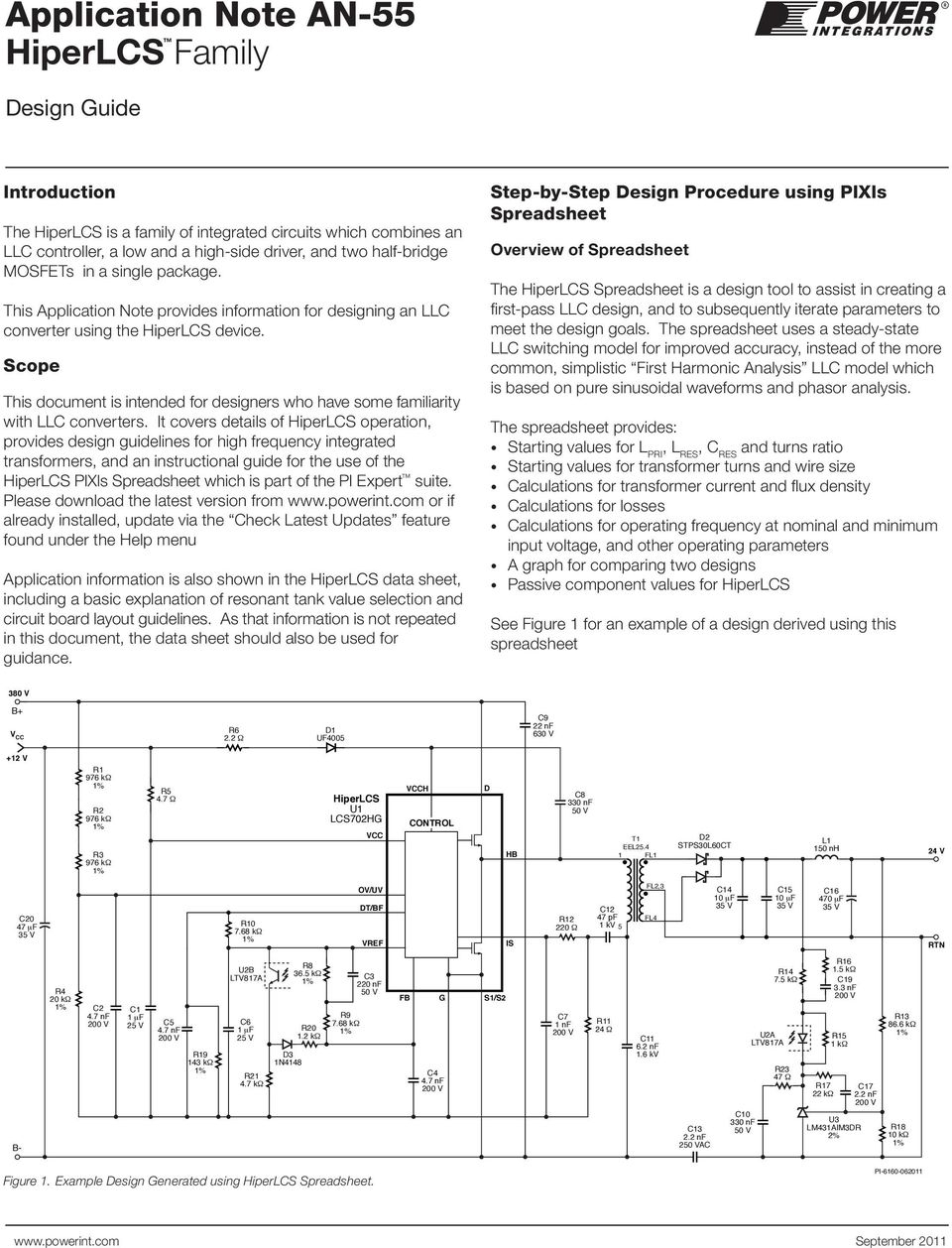 Transformer Design Spreadsheet With Application Note An55 Hiperlcs Family  Pdf