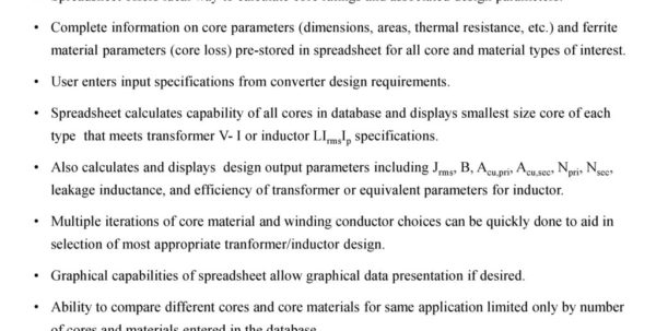 Transformer Design Spreadsheet With William P. Robbins Dept. Of Electrical And Computer Engineering Transformer Design Spreadsheet Google Spreadsheet