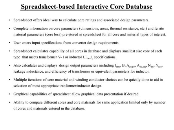 Transformer Design Spreadsheet With William P. Robbins Dept. Of Electrical And Computer Engineering