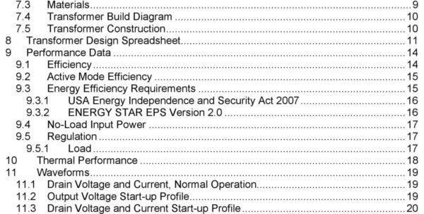 Transformer Design Spreadsheet Within Design Example Report  Pdf