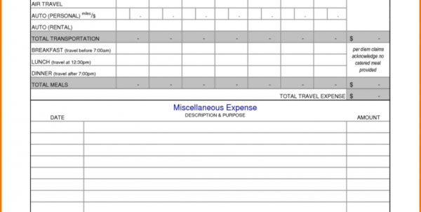 Travel Expense Spreadsheet With Regard To Business Expenses Spreadsheet Sample With Travel Template And Excel