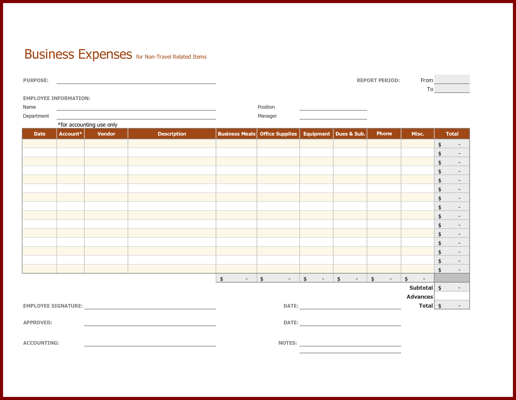 Travel Expenses Spreadsheet Template Intended For Monthly Business Expense Report And Sheet Template For Non Travel