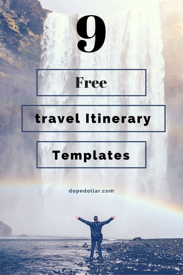 Travel Itinerary Spreadsheet In Free Travel Itinerary Templates For Travel, Flight  Vacations