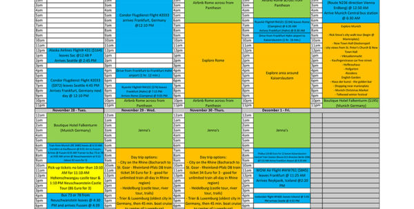 Travel Itinerary Spreadsheet With Regard To The One Tool For Planning The Best Travel Itinerary  Go See The Place