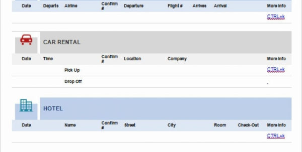 Travel Itinerary Spreadsheet Within 1213 Travel Itineraries Templates  Urbanvinephx