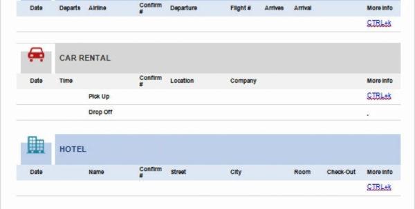 Travel Itinerary Spreadsheet Within 1213 Travel Itineraries Templates  Urbanvinephx