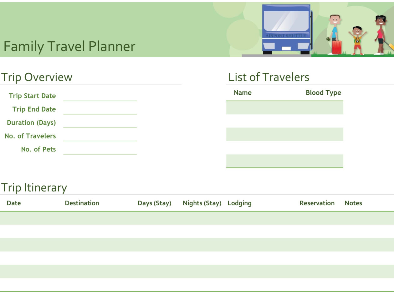 Travel Planner Excel Spreadsheet Regarding Itineraries  Office