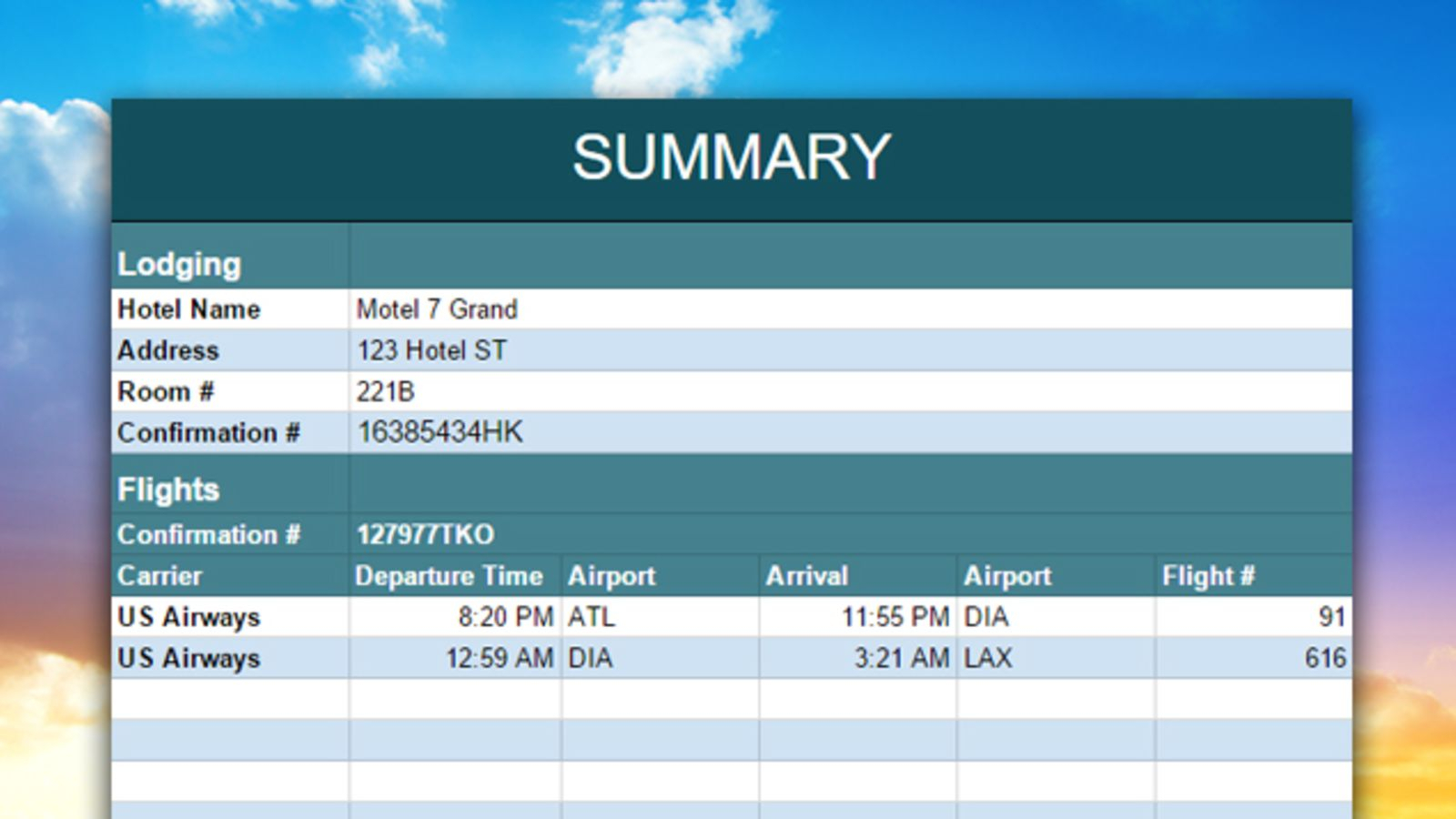 Travel Planning Spreadsheet With Regard To Organize And Share Your Vacation With This Travel Planning Spreadsheet