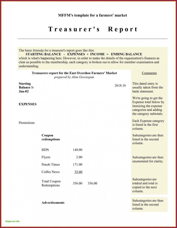 Treasurer's Report Excel Spreadsheet For Magnificent Treasurer Report Template Excel ~ Ulyssesroom