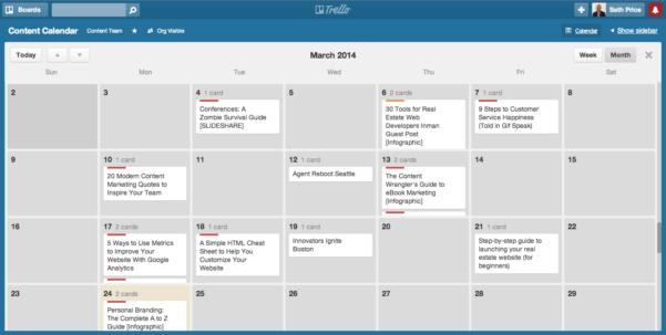 Trello Spreadsheet Regarding How To Create An Editorial Calendar For Your Content Marketing
