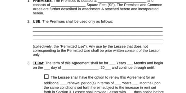 Triple Net Lease Spreadsheet Throughout Free Triple Net Nnn Commercial Lease Agreement Template  Pdf