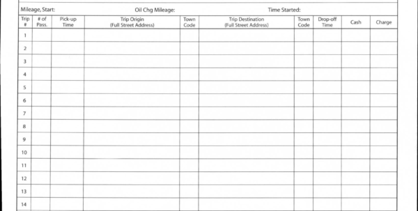 Trucking Mileage Spreadsheet Throughout Truck Drivers Trip Sheet Template  Erieairfair