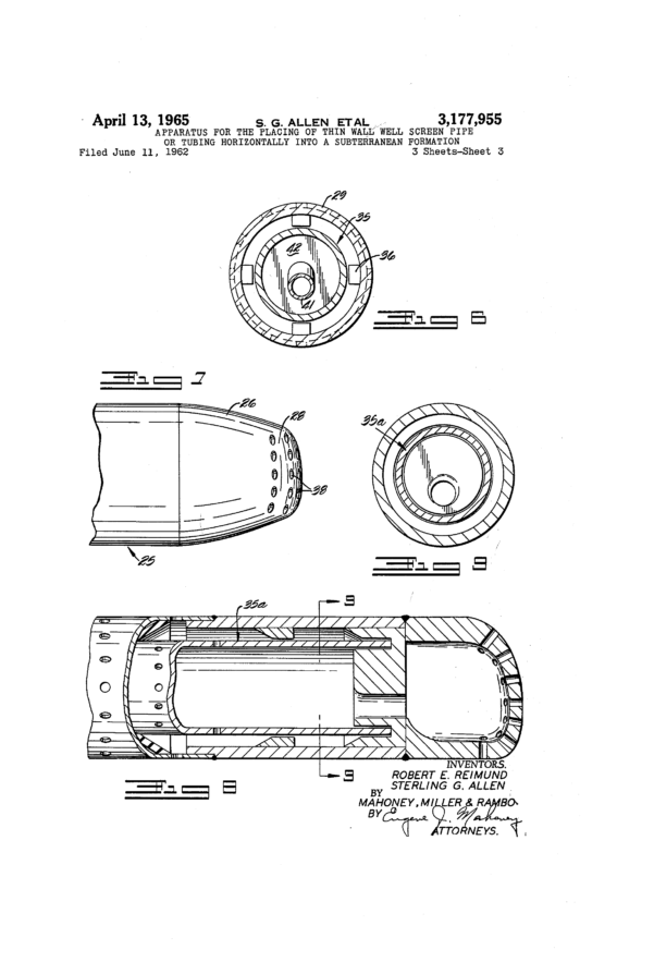 Tubing Tally Spreadsheet In Patent Us3177955  Apparatus For The Placing Of Thin Wall Well
