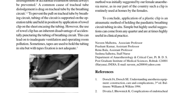 Tubing Tally Spreadsheet In Pdf Fibreoptic Bronchoscopy – An Early Therapeutic Tool In Trauma