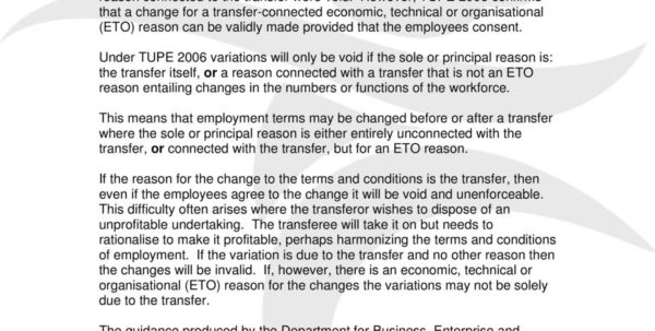 Tupe Due Diligence Spreadsheet Within Transfer Of Undertakings Tupe  Pdf