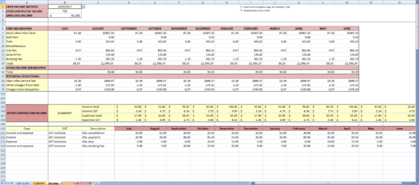 Uber Excel Spreadsheet Pertaining To My Uber Income  Income App For Uber Drivers In Australia