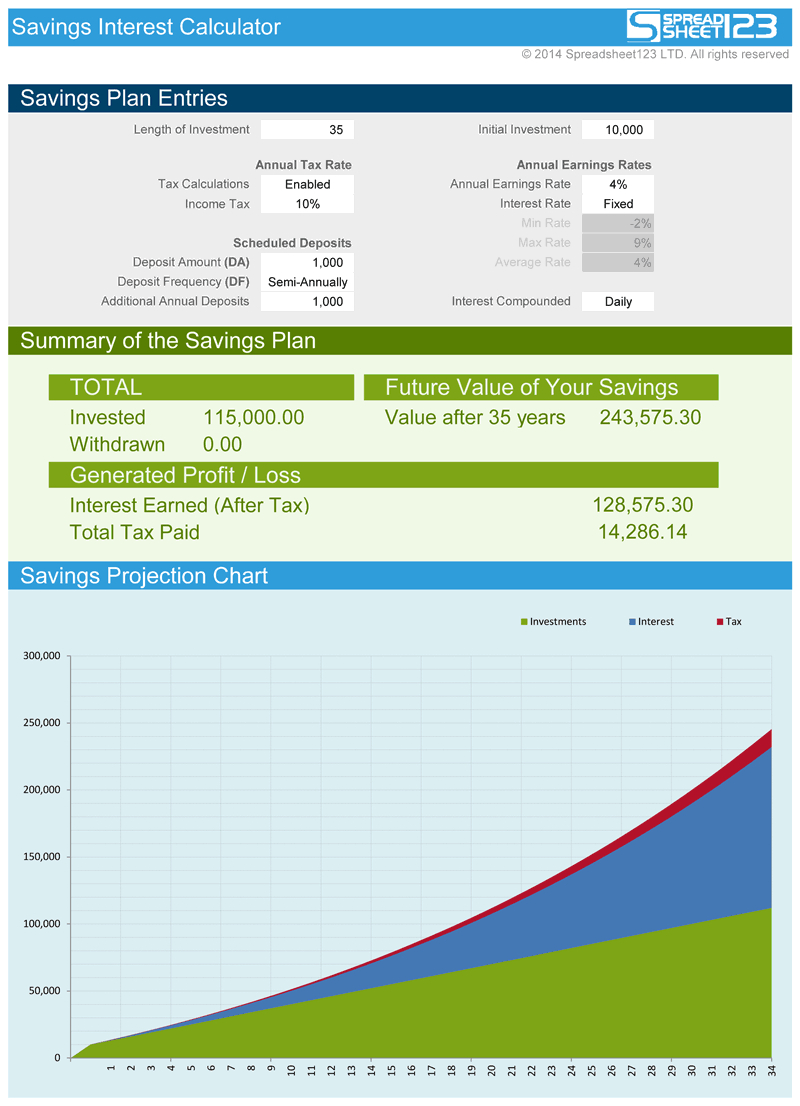 Uk Pension Calculator Spreadsheet With Regard To Retirement Savings Calculator  Free For Excel