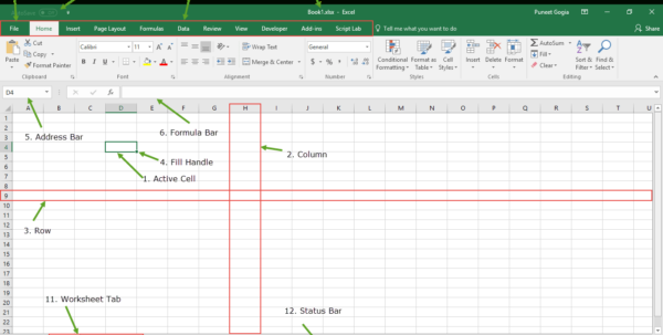 Understanding Excel Spreadsheets For Introduction To Microsoft Excel  Basics Knowledge   Components