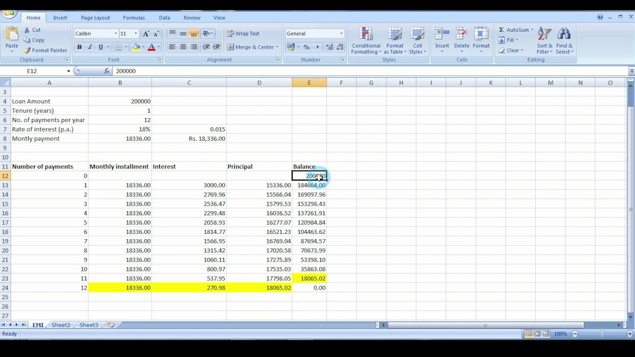 Understanding Excel Spreadsheets Inside Investment Property Calculator Excel Spreadsheet And Calculation Of