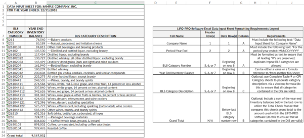 Unicap Calculation Spreadsheet In Software Support  Lifo Services  Software