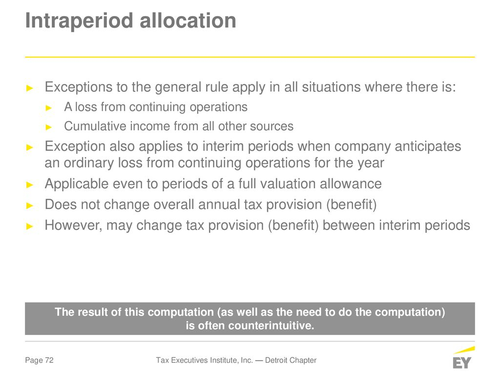 Unicap Calculation Spreadsheet Throughout Tax Executives Institute, Inc. — Detroit Chapter  Ppt Download