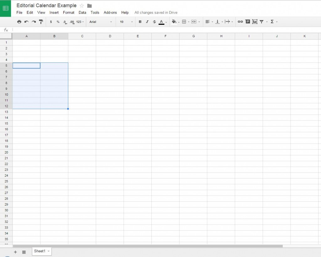 Untitled Spreadsheet Google Intended For How To Create A Free Editorial Calendar Using Google Docs  Tutorial