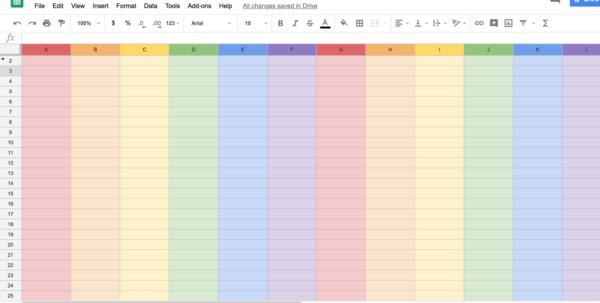 Untitled Spreadsheet Google With How To Get Rainbowthemed Google Sheets To Celebrate Pride