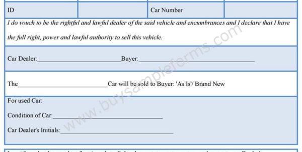 Used Car Dealer Spreadsheet Inside Dealer Bill Of Sale Template Auto Sales Unique Car Best For
