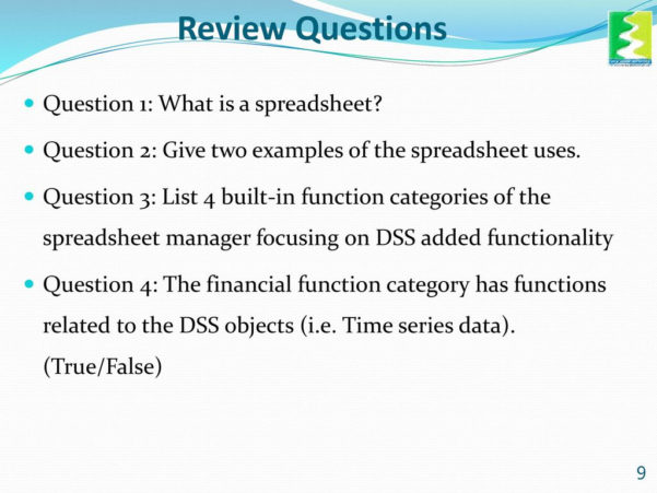 Uses Of Spreadsheet Inside Spreadsheet Manager Training Module  Ppt Download