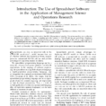 Uses Of Spreadsheet Software With Regard To Pdf Introduction: The Use Of Spreadsheet Software In The