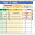 Utility Bill Tracking Spreadsheet In Bill Tracker Spreadsheet  Resourcesaver