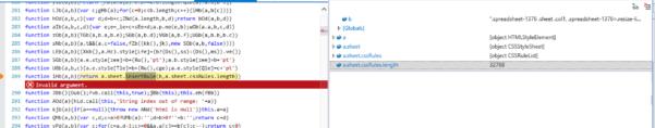 Vaadin Spreadsheet Throughout Ie11: Insertrule Upper Limit Check 32678 · Issue #318 · Vaadin