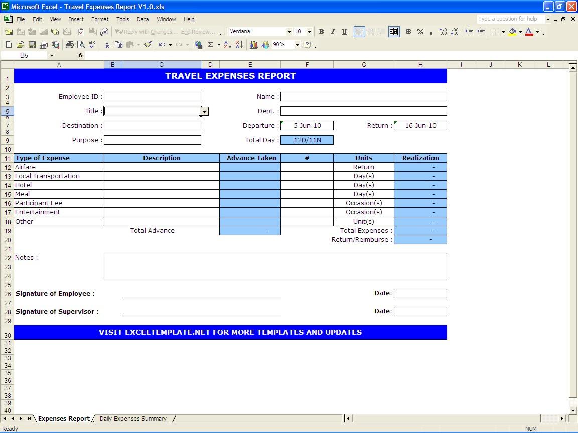Vacation Expense Spreadsheet Template Regarding Business Trip Expenses  Kasare.annafora.co