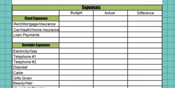 Vacation Expense Spreadsheet Template Within Expenses Sheet Template Monthly Excel Business Spreadsheet Travel Uk
