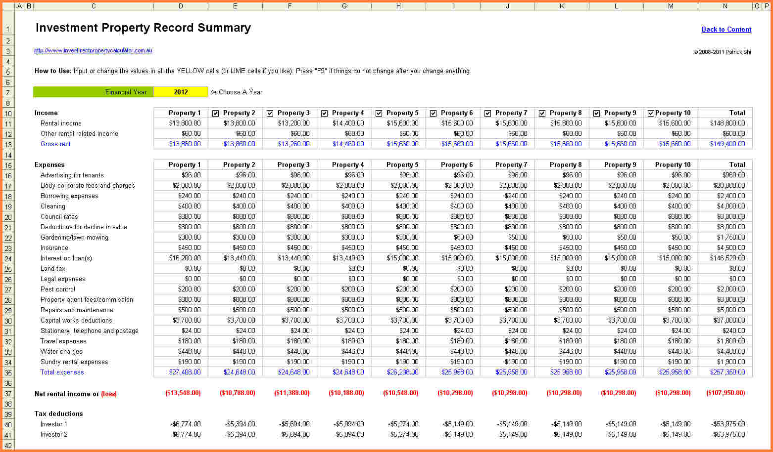 Vacation Rental Spreadsheet Free For Rental Property Expensessheet Nz Income And Expense Template