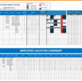 Vacation Spreadsheet Template 2018 For 10  Employee Vacation Tracker Excel  This Is Charlietrotter