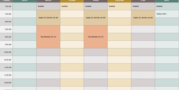 Vacation Spreadsheet Template 2018 In Work Scheduling Template Excel Free With Daily Planner Plus Employee
